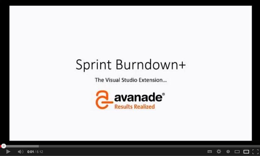 Avanade sprint burn down